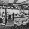 The Panorama Room was an upscale restaurant located on the promenade of the Pan Am Terminal, which featured expansive views of the airfield and departure gates.