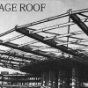 Construction of the massive four-acre roof.